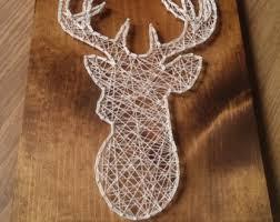 Deer String Art, Deer Art, Outdoor String Art, Deer String Design, Deer