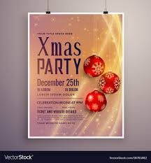 Free Holiday Design Templates Party Invitation Template Design For Christmas