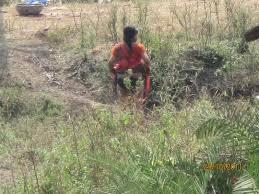 Village aunties outdoor toilet