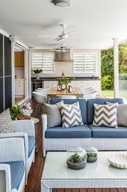 brisbane white slipcovered chairs deck