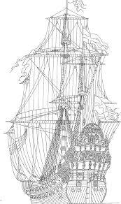 Kleurplaat Zeilschepen Historisch Zeilschip Voc Tegninger