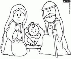 Kleurplaat Maria Jozef En Jezus In De Kribbe Kleurplaten