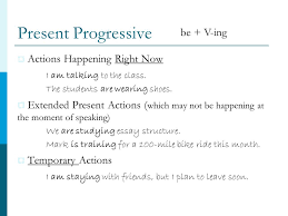 unit three simple progressive verbs gerunds infinitives  6 present progressive
