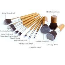 kabuki brush uses. 11 pieces bamboo handle makeup brush kabuki set with bag 5 uses m