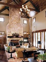 7 modern country style texas home with concrete fireplace and vaulted ceiling