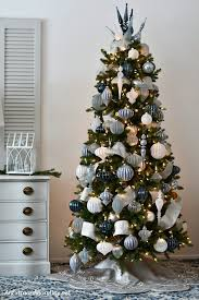 christmas trees decorated in blue. Unique Blue Create A Classy Blue And Silver Christmas With These Stunning Ornaments  From Balsam Hill Great To Trees Decorated In Blue S