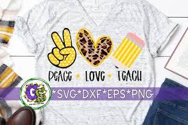 Tik tok logo svg, tiktok svg, love svg, png, eps, ai, dxf, kids svg, popular svg, shirt svg, instant download. Peace Love Teach Svg Dxf Eps Png Teacher Appreciation Svg 483359 Svgs Design Bundles