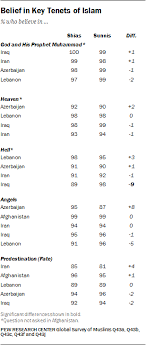 Many Sunnis And Shias Worry About Religious Conflict Pew