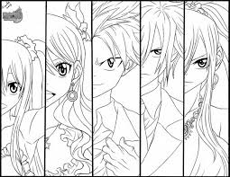 Small Picture Fairy Tail Coloring Pages Fairy Tail Anime Coloring Pages Yw8