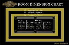 Pool Table Sizes Chart Pool Table Room Dimension Chart Pool Table Size Pool