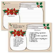 Christmas Recipe Card Recipe Cards Canning Labels Current Catalog