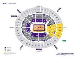 Kentucky Basketball Seating Chart Lsu Athletics Facilities Seating Charts Lsu Tigers
