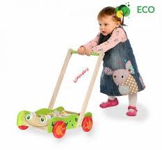 banaby eu baby walkers wooden baby push walker with building blocks
