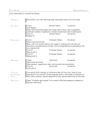 48 Great Curriculum Vitae Templates Examples Template Lab