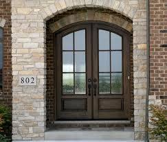 Simple Open Arched Double Doors Wood Exterior Doorsmahogany Doorsentry Canton To Impressive Design