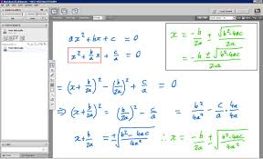 the topic is deriving the quadratic formula using completing
