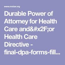 Sample Advance Directive Form. Advance Medical Directive Form ...