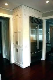 built in refrigerator cabinet. Refrigerator Cabinet Surround Built In With Doors Fridge Kitchen B