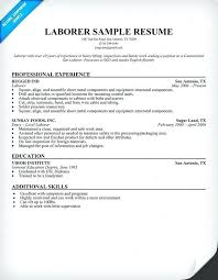 General Laborer Resume Template | Dadaji.us