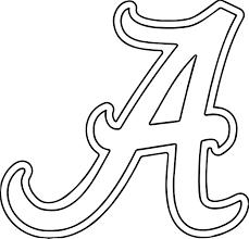 Alabama University Of Alabama A Text Coloring Page Wecoloringpage
