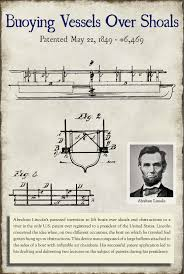 「1849, future President Abraham Lincoln is issued a patent」の画像検索結果