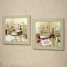 ... Wall Art, Stunning Bathroom Canvas Art Bathroom Wall Decorating Ideas  Small Bathrooms Two Green Frame ...