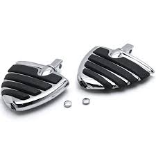 Chrome Motorcycle <b>Wing Foot Pegs</b> Footrests L+R For Victory ...