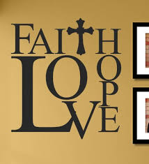 faith hope love with cross vinyl wall decals quotes sayings words art decor lettering vinyl wall art inspirational uplifting on wall art lettering quotes with faith hope love with cross vinyl wall decals quotes sayings words