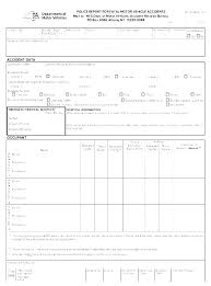 Motor Accident Report Form Template Road Car Vehicle Traffic