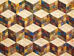 Baby Block Quilt Patterns Awesome Tumbling Blocks Quilt Great Made With Care Amish Quilts From