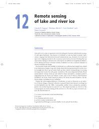 Ice Depth Safety Chart Pdf Remote Sensing Of Lake And River Ice