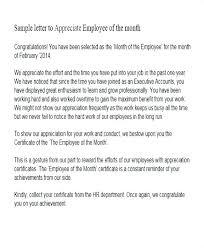 Employee Performance Letter Sample Employee Performance Recognition Letter Sample Format Resume