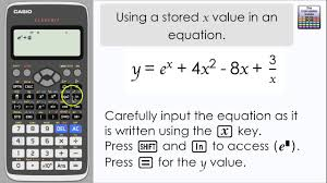 casio classwiz using a d value of x in an equation calculator fx 991ex a level maths you