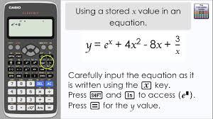 casio classwiz using a d value of x in an equation calculator fx 991ex a level maths you