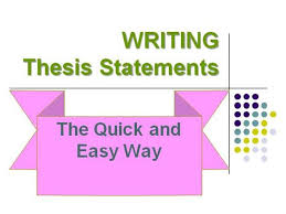 how to write the thesis statement for toefl ibt authorstream