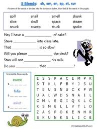 A printable worksheet designed to teach beginning blends sc, sk, sn, sp, st, sw. Consonant Blends Worksheets By Fran Lafferty Teachers Pay Teachers