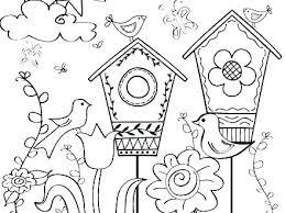 Springtime Coloring Sheets C4513 Free Spring Color Sheets Spring