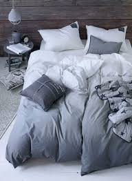 grey to white ombre duvet cover scandi bed linen love