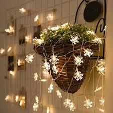 5 Meters 50 LED Snowflake String Lights for Decoration - 5m Led 2019 For