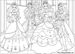 Small Picture Beautiful Barbie Princesses Coloring Page For Little Girls