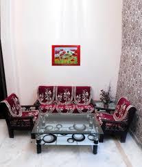 shc red fl blends set contains 1 sofa seat cover 1 sofa back cover