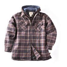 Dakota Grizzly Size Chart Dakota Grizzly Flannel Fleece Lined Hooded Jacket 221879