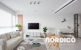 White and Patterns Steal the Show In This Scandinavian-Style Apartment