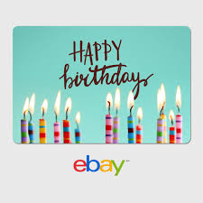ebay digital gift card happy birthday candles fast email delivery