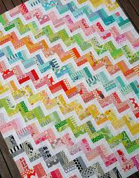 Red Pepper Quilts   Quilted + Sewn.   Pinterest   Red peppers ... & scrap quilt -Zig Zag Rail Fence Quilt Pattern PDF by Red Pepper Quilts Adamdwight.com
