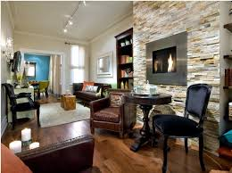 living room interior design with fireplace. Beautiful Interior Traditional Living Room With Electric Fireplace On Stone Wall And Living Room Interior Design With Fireplace