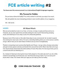 first certificate exam fce article writing my favourite  cambridge exams