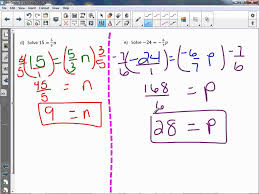 8th grade 2 1 solve equations with rational coefficients