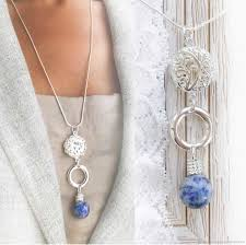 necklaces beads handmade livemaster handmade pendant blue sodalite on a sterling