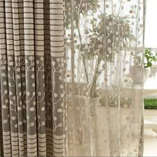 Net Curtains For Living Room Aliexpresscom Buy Jacquard Flower Pattern Net Curtains For